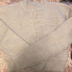 Bebe grey cropped knit sweater